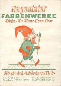 Hagentaler Historische Produkbroschüre